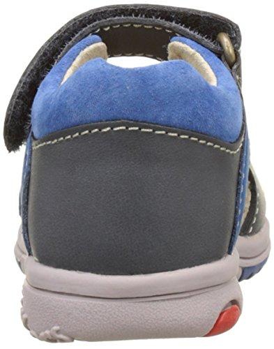 Kickers Plazabi - Primeros Pasos de Otra Piel Bebé-Niñas Bleu (Bleu Foncé Bleu)
