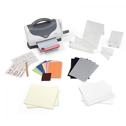 Sizzix Máquina para repujar Texture Boutique Starter Kit White and Grey artículo Essential. máquina para