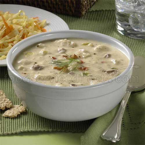 Blount Fine Foods Scallop and Bacon Chowder - 4 lb. package, 4 per case
