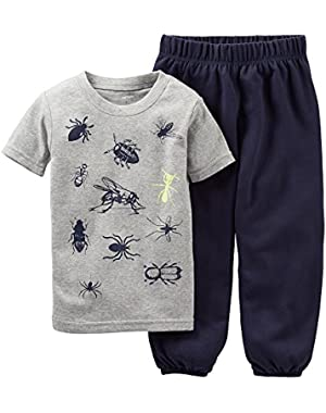 Carter's baby boys 2 piece short sleeve pajama set