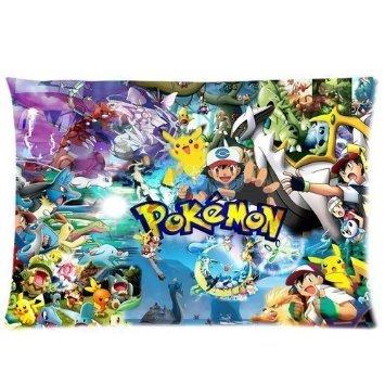 H & H Pokemon Pikachu impreso personalizado funda de almohada manta funda de almohada cojín funda de almohada de 20 x 36 (dos laterales)