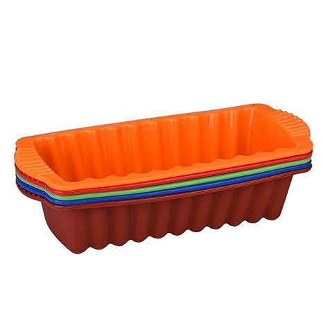 Jamicy - Molde rectangular de silicona antiadherente para horno, molde de horno