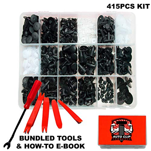 (Auto Clip Commerce Bumper Push Fasteners Clips Rivets with 18 Most Popular Sizes Auto Push Pin Rivets for Toyota, Honda, BMW, Subaru, Nissan, Mazda, Ford, Chevy, etc.)