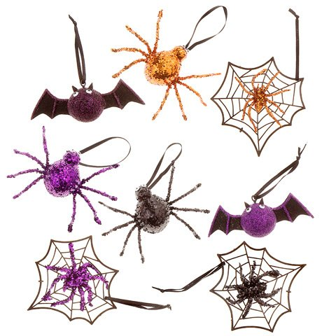 Darice Halloween Ornament 8 Assorted Styles and/or Colors 16pc Set
