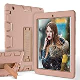 iPad 2 Case - iPad 3 Case - iPad 4 Case - ZERMU Heavy Duty Kickstand Shockproof Hard Plastic+Silicone Defender High-Impact Shock Absorbent Resistant Rugged Bumper Full-Body Protective Case for iPad 2 3 4