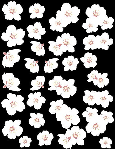 White Cherry Blossom Decal Set 41 Blossoms - Sizing Information in Product Description ()