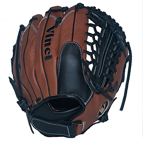 Vinci Fortus 12'' Softball/Baseball Glove Brown/Black Left Handed Thrower by VINCI