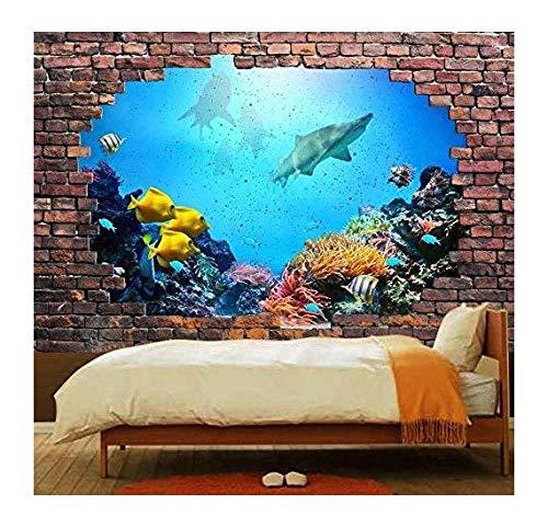 Large Wall Mural 3D Visual Effect Vinyl Wallpaper Removable Decorating (Deep Ocean)