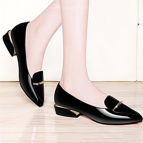 Gaolongjun Mujeres Las Planos Boda Y Gljxg Colores Negro La Primavera Zapatos 2 Verano De Opcional Tamaño Opcionales El vzwrSFvx