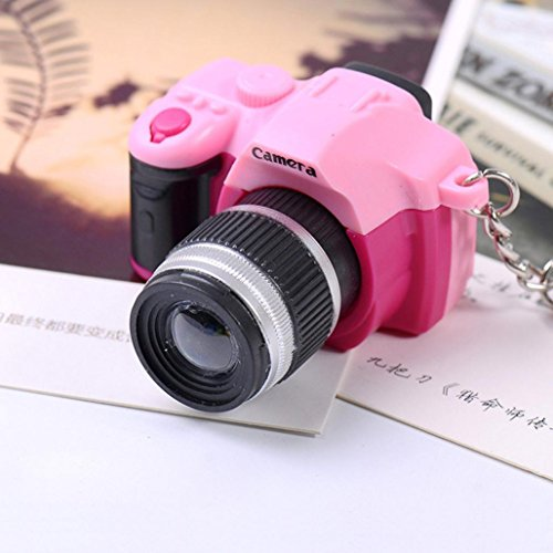LtrottedJ Newly Hot Cute Mini Toy Camera Charm Keychain, With Flash Light&Sound Gift (Pink)