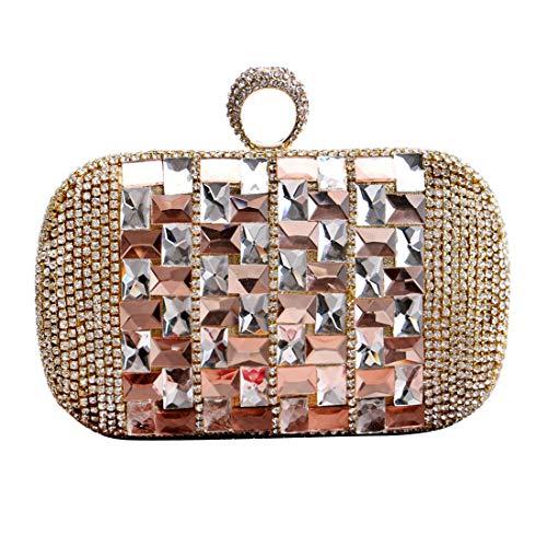 de Bague dembrayage concepteur de Luckywe Sac diamants Dîner soirée à Or exquis à main Femmes CxCqYR7w