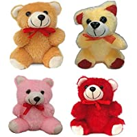 idecor Small Teddy for Girlfriend, Boyfriend- Combo of 4 Set - Gift for Birthday/Anniversary - Size 12 cm