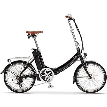 """2016 Blix Vika + 20 """"negro 7 velocidad bicicleta plegable eléctrica"""