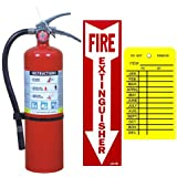 5 lb. Victory ABC Fire Extinguisher with Wall Hook, Sign and Inspection Tag