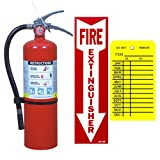 Victory 5 Lb. Type ABC Dry Chemical Fire Extinguisher with Vehicle Bracket Sign and Tag