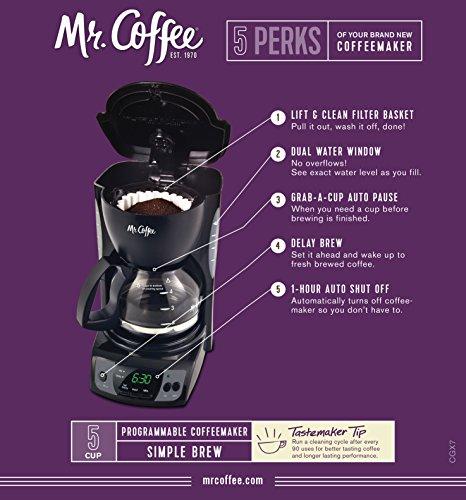 Gevalia Coffee Maker Cleaning Instructions : Mr. Coffee CGX7 5-Cup Programmable Coffeemaker, Black - Gourmet Coffee & Equipment