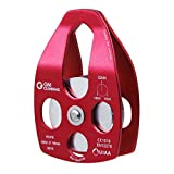 GM CLIMBING Large Rescue Pulley Single / Double Sheave with Swing Plate CE / UIAA