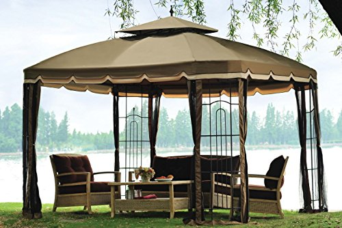 Sunjoy Replacement Canopy Set for 10x12ft Bay Window Gazebo -  110109147