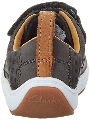Clarks Maxi Take Fst, Botines de Senderismo para Bebés Gris (Grey Leather)