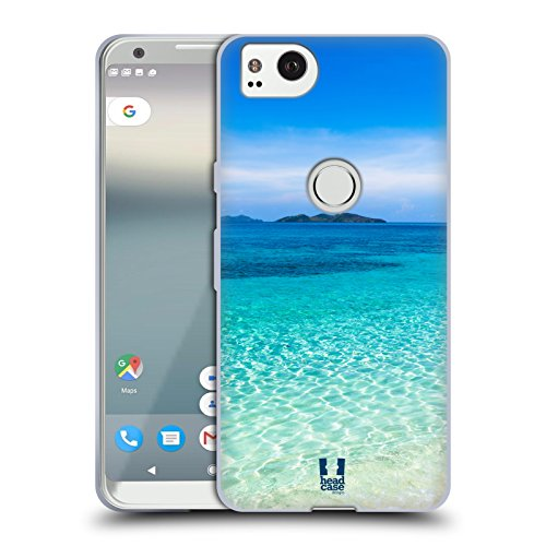 Head Case Designs Tropical Sandy Beach Malcapuya Beautiful Beaches Soft Gel Case for Google Pixel 2 ()