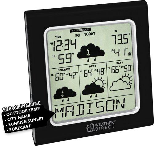 UPC 757456989785, La Crosse Technology Weather Direct WD-3105U-BK 4 Day Internet Powered Wireless Forecaster - Black