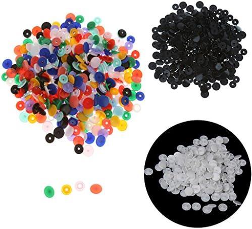 【ノーブランド品】 T5樹脂 プラスチック スナップ ボタン 手作り用 ポッパー 100セット 2サイズ選べる - 12.4mm