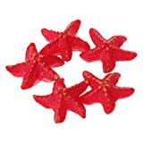 LANDUM 5pcs Fish Tank Artificial Starfish Decor Glow in Dark Aquarium Ornaments Resin