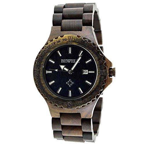 BEWELL Handmade Wood Quartz Analog Watch 100% Natural - Wooden Watches Cheap