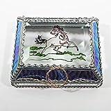 Cowboy, Horse, Mustang, Rodeo, Stained Glass Jewelry Box, Presentation Box, Keepsake Box, Glass Jewels, Swarovski Crystals, USA Made