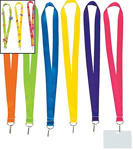 Fun Express Bright Lanyards Dozen