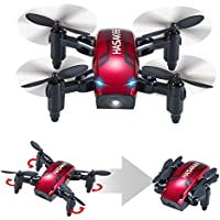 HASAKEE H6 Foldable RC Mini Drone with Altitude Hold and Headless Mode 2.4GHz 6-Axis Gyro Pocket Quadcopter with One-Button 360° Flip,Fun Gift