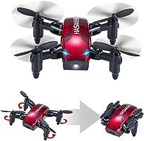 HASAKEE Mini Drone Pieghevole con Controllo Altitudine e Funzione Headless,2.4Ghz Sensore giroscopico a 6 assi RC Quadcopter con 3D FLIPS,Buono per principianti