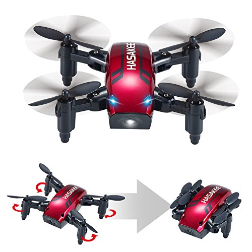 H6 Foldable RC Mini Drone with Altitude Hold and Headless Mode 2.4GHz...