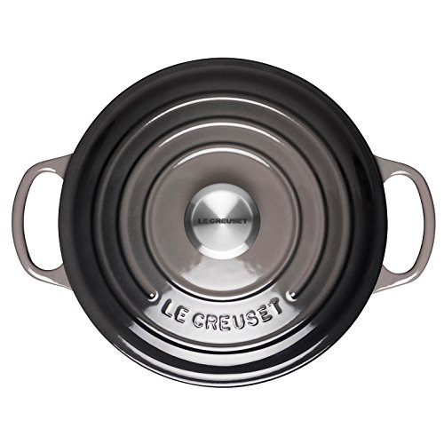 Le Creuset Signature Enameled Cast-Iron 5-1/2-Quart Round French (Dutch) Oven, Oyster by Le Creuset (Image #2)