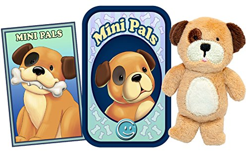 (Giftable World T02-SPOT Mini Pals - Dog Tin, Trading Card & Plush, 2 1/4 x 3 1/2 x 3/4