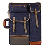 "Transon Art Portfolio Case Artist Backpack Canvas Bag Large 26"" x 19.5"" Navy Blue"