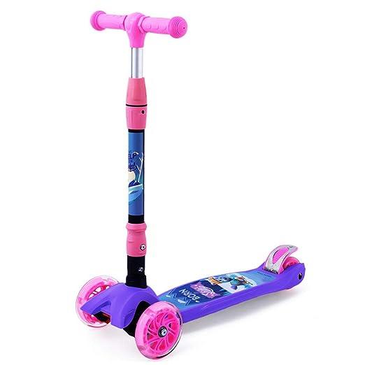 Gjzww Scooter para Niños El Triciclo Plegable Puede Levantar ...