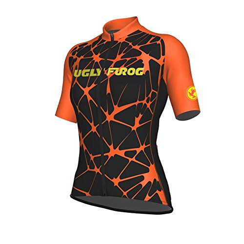 Uglyfrog Women's T-Shirt Lightweight Sports T-Shirt Cycling Quick-Dry Short Sleeve Women's Performance Training T- Shirt Top - Beer Short Sleeve Cycling Jersey
