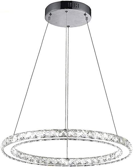 GDNS Modern Crystals Chandeliers,Ceiling Lights Fixtures,Pendant Lighting for Living Room Bedroom Restaurant Porch Dining Room,One Rings One ring,Dia 30cm