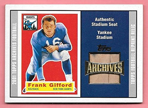 2001 Topps Archives #FG Frank Gifford Authentic Yankee Stadium Seat Relic ()