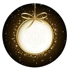 alfombrilla de ratón Resumen de la tarjeta de Navidad - ronda - 20cm
