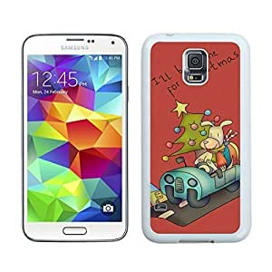 2014 Newest I'll be home for Christmas White Samsung Galaxy S5 Case 1