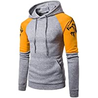 New Patchwork Sweatshirt, Litetao Men Pullover Hoodie Pocket Sweatshirt Sport Outwear