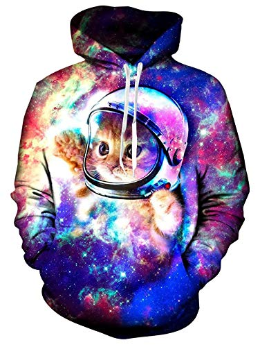 RAISEVERN Mens Womens Fleece Hoodie Cool Pullover Hooded Sweatshirt Funny Long Sleeve Shirts