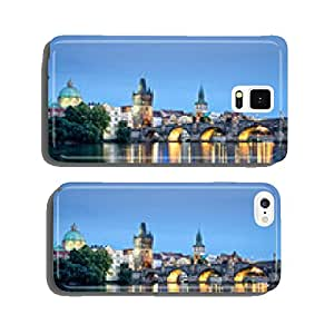 Vltava river and Charles bridge by night, Prague, Czech republic cell phone cover case iPhone5