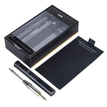 StageOnline Kit de Soldador Temperatura Ajustable Estación de Soldadura Tipo USB Mini TS80 Soldador eléctrico portátil Temperatura Ajustable Estación de ...