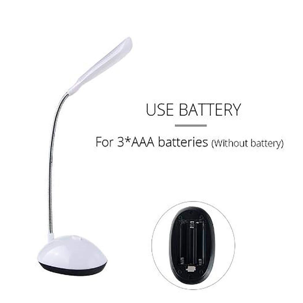Oguine Mini LED Desk Lamp 360 Degree Rotating Eye Protection Reading Book Lights Desk Lamps