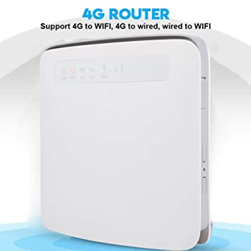 ASHATA CPE 4G Router Inalámbrico 300Mbps, LTE Router, Enrutador ...