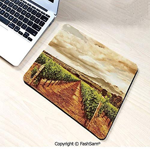 Desk Mat Mouse Pad Grape Valley Clouds Over