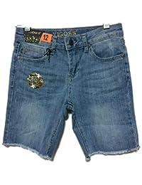VIGOSS Girl's Stretch Denim Shorts with Adjustable Waistband